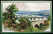 Early 1900s Winsch Postcard, Springtime in Cappaquin, Bridges over Canals, Co. Waterford