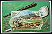 1911 Embossed Gilded Postcard, Erin Go Bragh! Dunmore, County Waterford, Irish Village, Pipe, Shamrocks