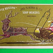 """White Russian"" Trade Card, Jas. S. Kirk & Co. Soap Makers, c. 1900"
