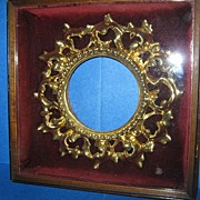 "SALE Carved Wood ""Florentine"" Round Frame.1900"