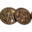 Set of 3 Antique Buttons, Roman Soldiers, CA.1880