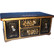 SALE Antique Miniature Japanese Chest/Box, CA.1900