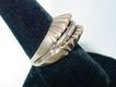 Vintage 14K Gold & Diamond Ring Sea Shell or Clam