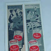 Two (2)1965 Dr. Pepper Advertising Pieces LOOK Magazine