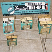 Tungsten Tune-up Kit Metal Store Display Foreign Car Advertising Display