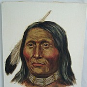 ORIGINAL Joe Ruiz Grandee Oil On Canvas Painting White Shield Cheyenne
