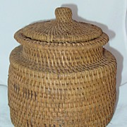 American Indian Container/Basket with Lid