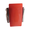 Art Deco Rare Jakob Bengel Facetted Coral Colored Galalith Large Ring