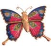 Vintage Sparkly Butterfly brooch with stamped metal Details 2 FOR 1 OFFER