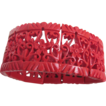 Art Deco Red Asian Influenced Design Celluloid Stretch Bracelet