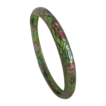 Vintage Plique A Jour Stained Glass Narrow Bangle Bracelet