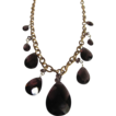 Art Nouveau Signed Rene Jules Lalique Pear Smoky Quartz Necklace