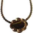 Mid Century Signed Hobe Semi Precious Tiger Eye Pendant  Necklace