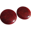 "Art Deco Wine Red Bakelite with post pierced Earrings ""Mars"""
