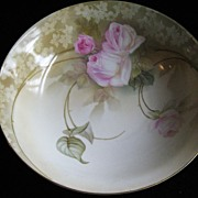 SALE Regina Ware Germany Handpainted Bowl Pink Roses