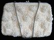 Vintage Richere Sequins and Beaded Ivory Purse or Evening Bag