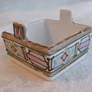 SALE Handpainted Nippon Open Salt Cellar-Unique Shape-Art Deco Style