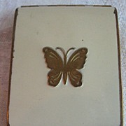 SALE Vintage Lucretia Vanderbilt  Duo Powder / Blush Compact BUTTERFLY
