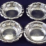 SALE 4 Webster Sterling Silver Nut Dishes