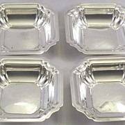 4 International Sterling Silver Nut Dishes Windsor