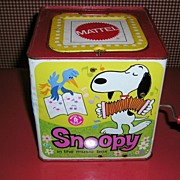 1966 Mattel Snoopy in the Music Box Toy