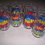 Set of 4 Diet Pepsi Glasses ~Right One Baby Uh huh~