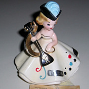 Older Josef Original October Birthday Figurine With Tag