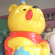 Vintage Disney Winnie the Pooh Bear and honey pot cookie jar