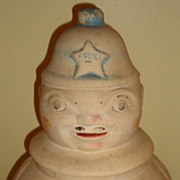 Vintage American Bisque RRP Cop Cookie jar