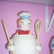 SALE Vintage Davar Chef Nodder cookie jar