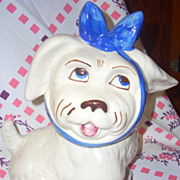 Vintage Shawnee Muggsy dog cookie jar