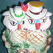 Interesting Vintage McCoy Owls cookie jar