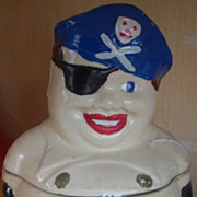 SALE Vintage 1930's Pirate Cookie Jar