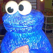 Charming vintage Sesame Street Cookie Monster cookie jar