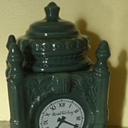 Charming vintage Advertising Marshall Field's clock cookie jar Frango Mints