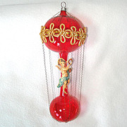 Chenille Poodle in Martini Glass Retro Christmas New Years Ornament