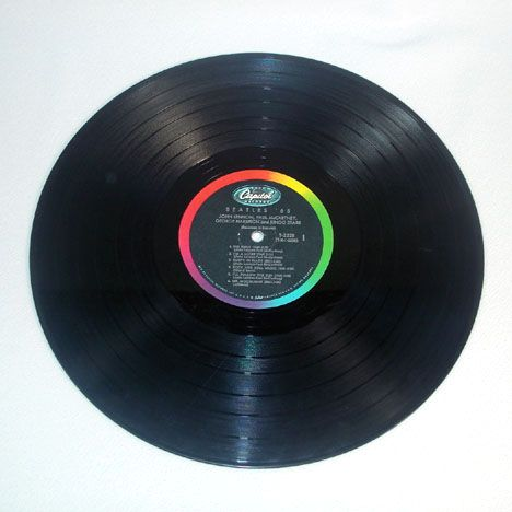 how to take a picture of a vinyl record