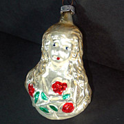 Inge 1982 Angel With Roses Christmas Ornament Mint in Box