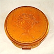 Elizabeth Arden Butterscotch Lucite Powder Compact