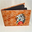 Lewiston Idaho Leather Snapshots Photo Album Hand Painted Indian
