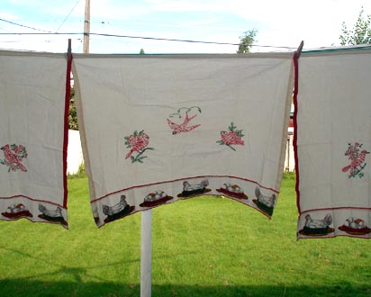 Kitchen Curtains - Solids - Prints - Lace - Appliance Covers