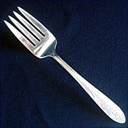 Princess Royal National Silver Silverplate Cold Meat Fork