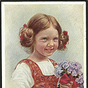 &quot;Girl with Flowers&quot;  (1915)
