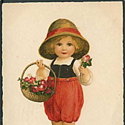 &quot;Girl with Flower Basket&quot;  (1925)