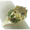 14 Karat Yellow Gold Citrine and Peridot Ring