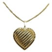 14 Karat Yellow Gold Puffed Heart Pendant