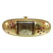Ladies 14 Karat Yellow Gold ELOGA Watch with Rubies and Sapphires