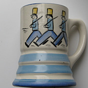 "Vintage Stangl "" MUSICAL MUG"" Tin Soldiers Kiddieware Works MINT Pottery"