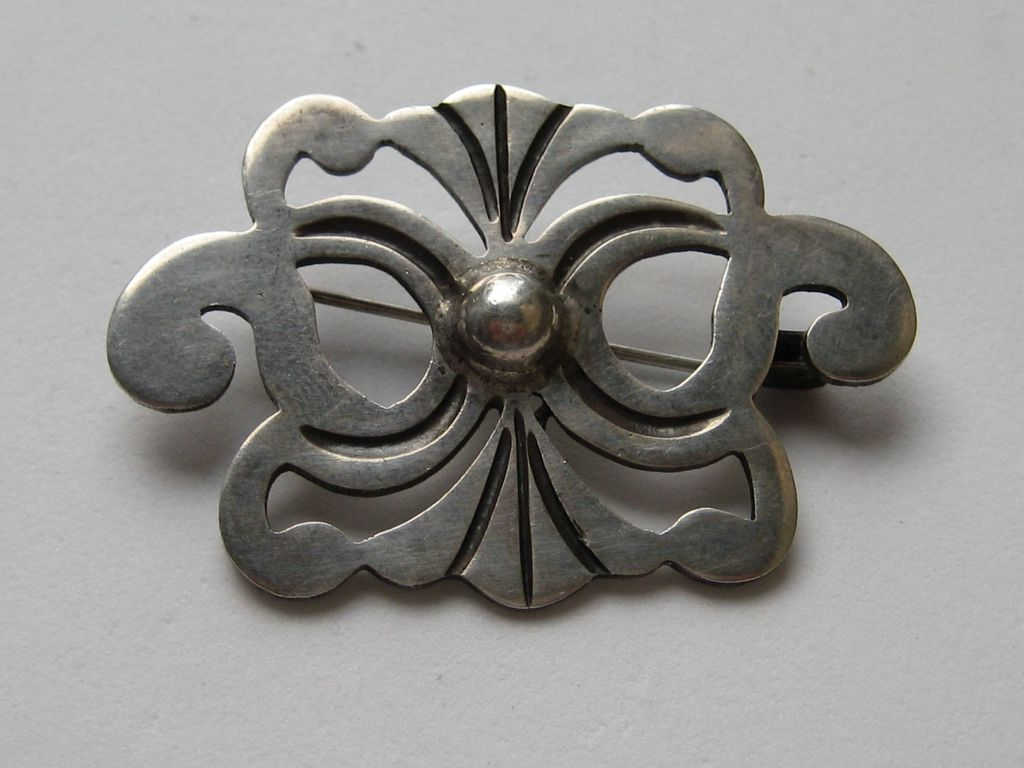 Early Taxco 980 Silver Mexico Exceptional Pin Brooch Mexico Vintage