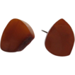 Vintage Art Deco Amber Sterling Cuff Links